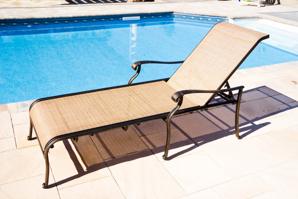 Athens Chaise Lounge by pool