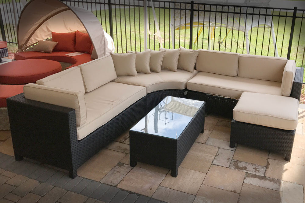 Raven 5 Piece Wicker Sectional Set