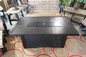Black Tile Top Fire Table
