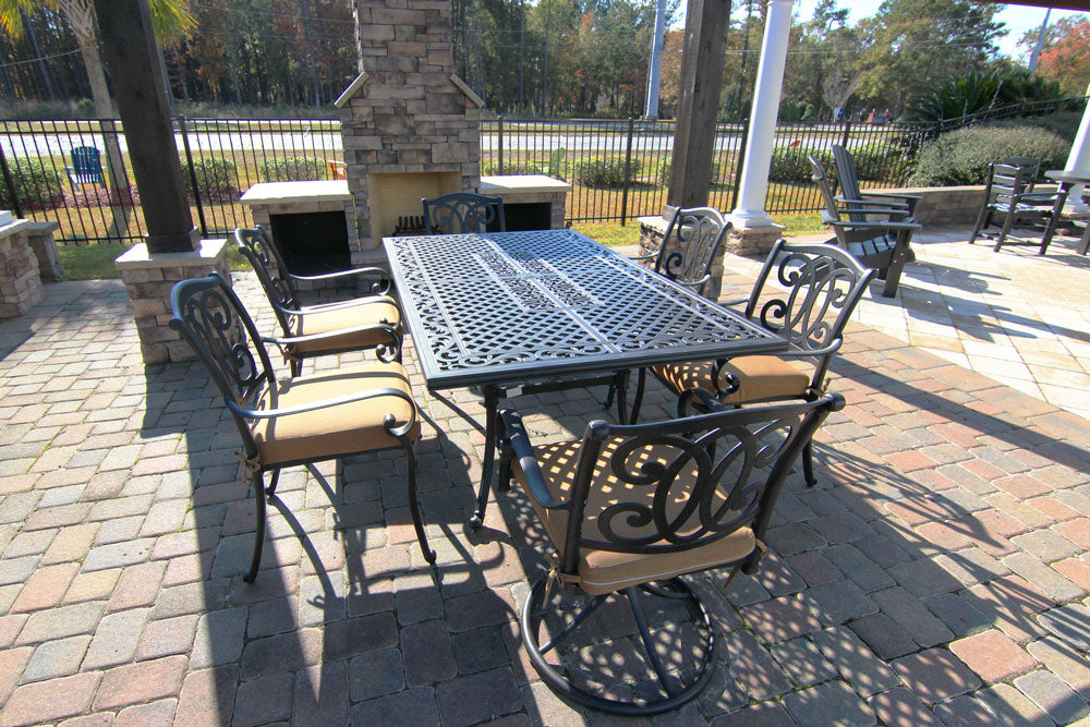 "Savannah 44""x72"" Aluminum Dining Set"
