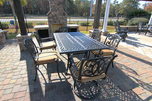 Savannah Rectangular Aluminum Dining Set