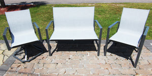 aluminum sling outdoor seating