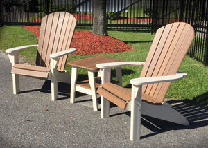 Wood look poly lumber chairs