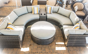 Curved Sectional with Ottoman - LAST ONE!