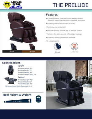 The Prelude Massage Chair