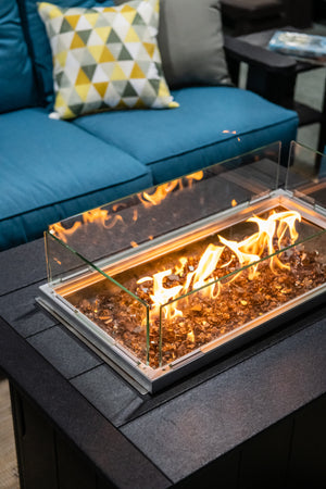 "Poly Lumber 37"" x 28"" Gas Fire Pit Chat Table"