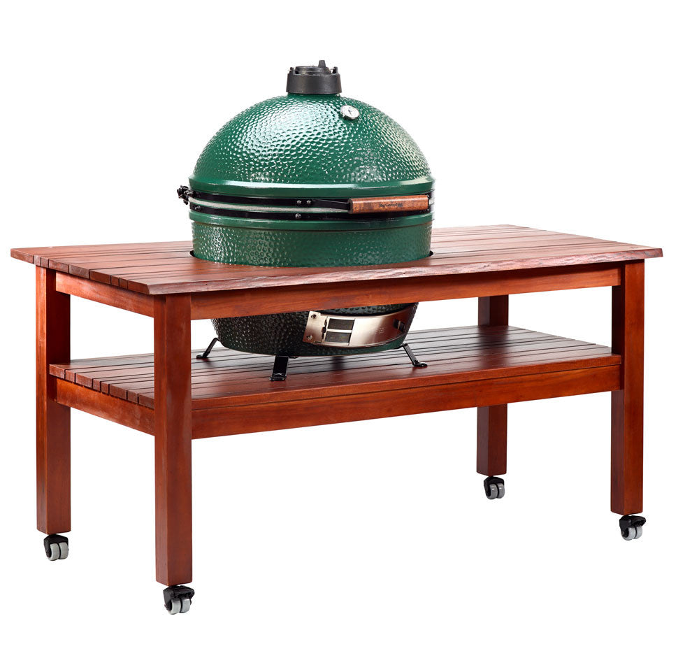 big green egg mahogany table