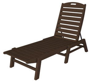 POLYWOOD™ Nautical Armless Chaise Lounge