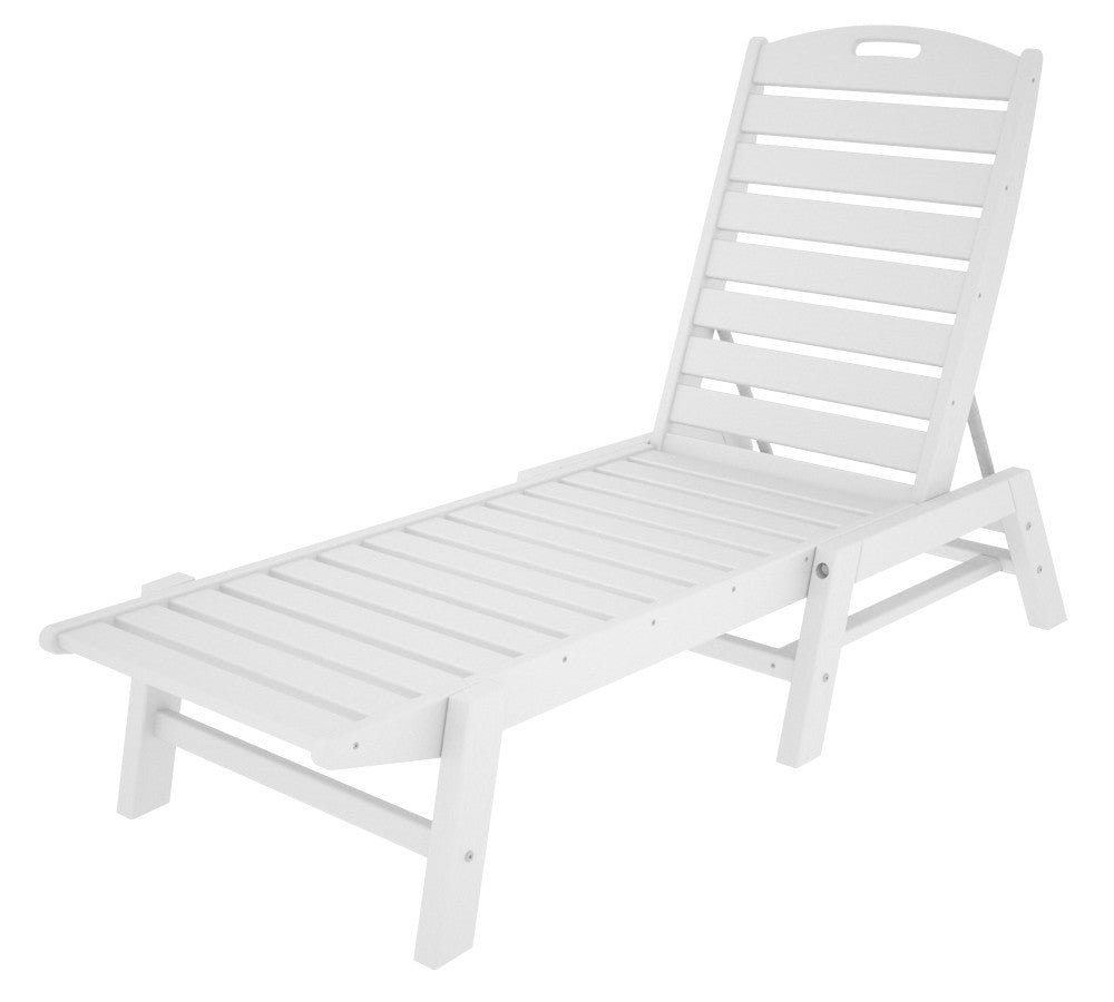 polywood™ nautical armless chaise lounge – leisure depot - polywood™ nautical armless chaise lounge