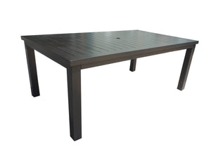 aluminum slat rectangle dining