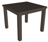 Capri aluminum slat square dining table