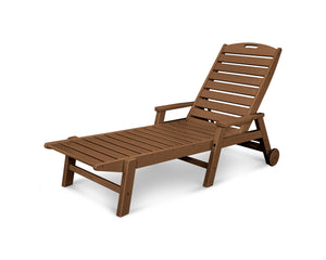 POLYWOOD™ Nautical Chaise Lounge With Arms and Wheels