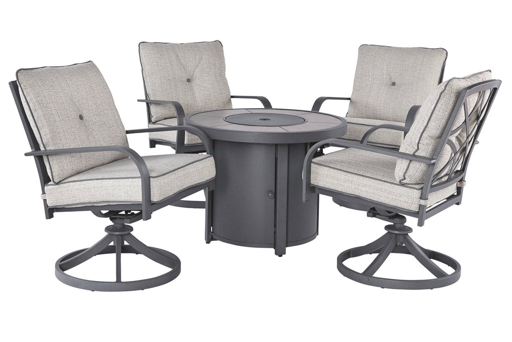 Cane Bay 5 Piece Fire Table Chat Set