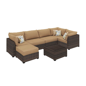 Wicker 7 Piece Sectional Sofa
