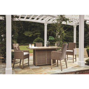 Croft Bar Height Fire Table Set