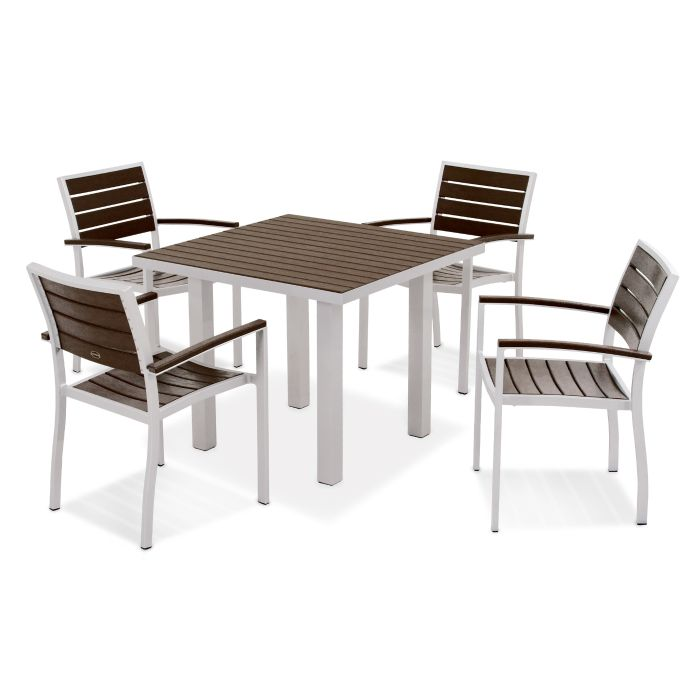 "POLYWOOD™ 36"" Euro Square Dining Set - Traditional Colors"