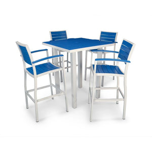 "POLYWOOD™ 36"" Euro Square Bar Height Dining Set - Vibrant Colors"