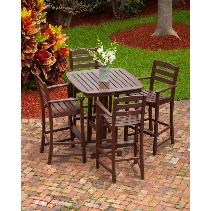 "POLYWOOD™ 37"" La Casa Cafe Square Bar Height Dining Set"