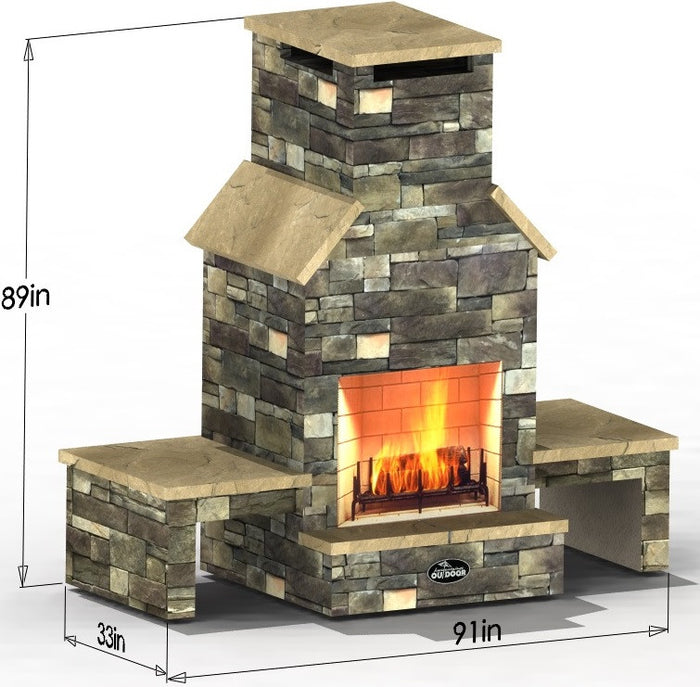 Pompey Pillar - Select Series Outdoor Fireplace