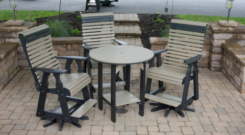 Country View Poly Pub table set