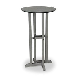 "POLYWOOD™ 24"" La Casa Cafe Round Bar Height Table"