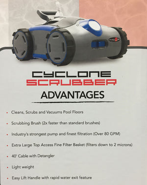 S2 CYCLONE SCRUBBER Robotic Pool Cleaner Aquabot