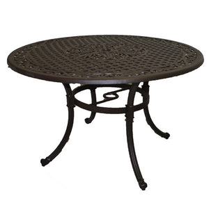 "Savannah 48"" Round Aluminum Dining Set"