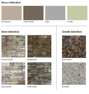 Select Series Homestretch - Outdoor Kitchen Island stone selections