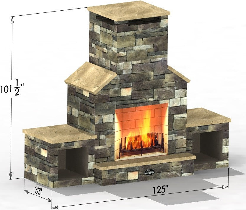 The Cathedral Select Series Outdoor Fireplace Leisure Depot