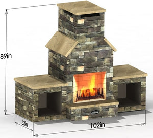 Triple Peak - Select Series Outdoor Fireplace