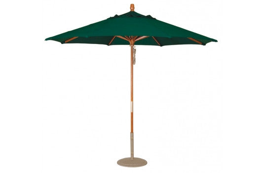 Wooden Hexagon Market Umbrella with Pully - 9'