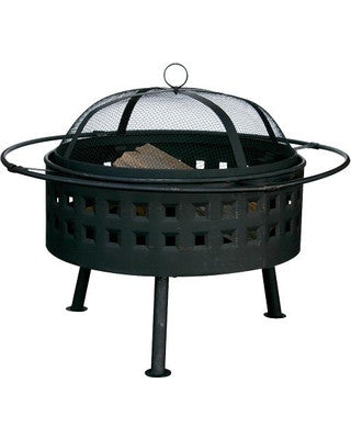 Wood Burning Firebowl with Square Cut Out Design