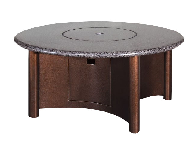 48 Round Granite Gas Fire Pit Table Leisure Depot