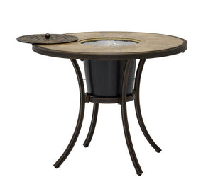Athens tile top aluminum outdoor ice bucket end table