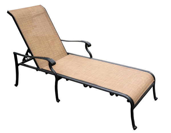Athens Cast Aluminum Chaise Lounge 2 For The Price Of 1