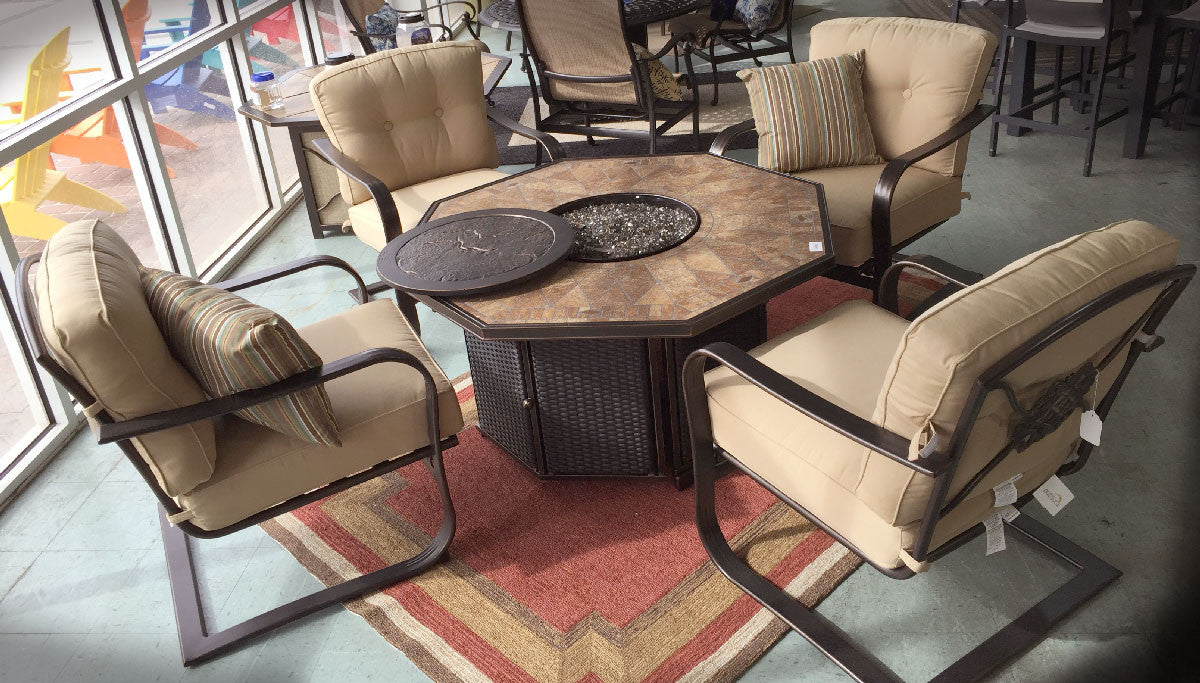 Athens Fire Table Chat Set