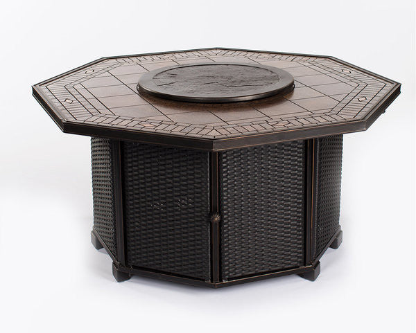 athens octagon fire chat table