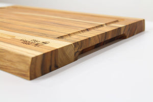 big green egg Teak Cutting Board side angle
