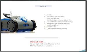 S2 CYCLONE SCRUBBER Robotic Pool Cleaner