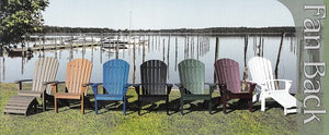 Recycled Poly Adirondack Chairs
