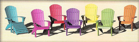 Country View Poly Adirondack Chairs