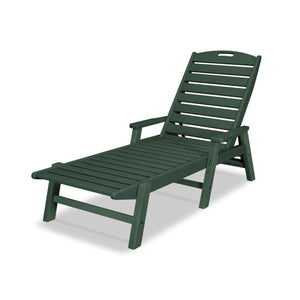 POLYWOOD™ Nautical Chaise Lounge w/ Arms