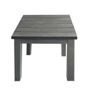 weathered gray aluminum wood look end table