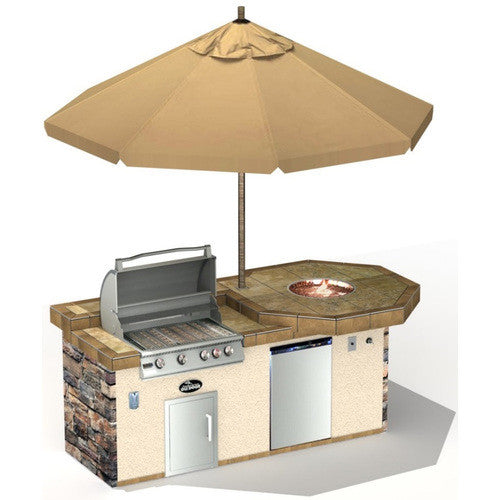 hwo-ss15 outdoor kitchen island