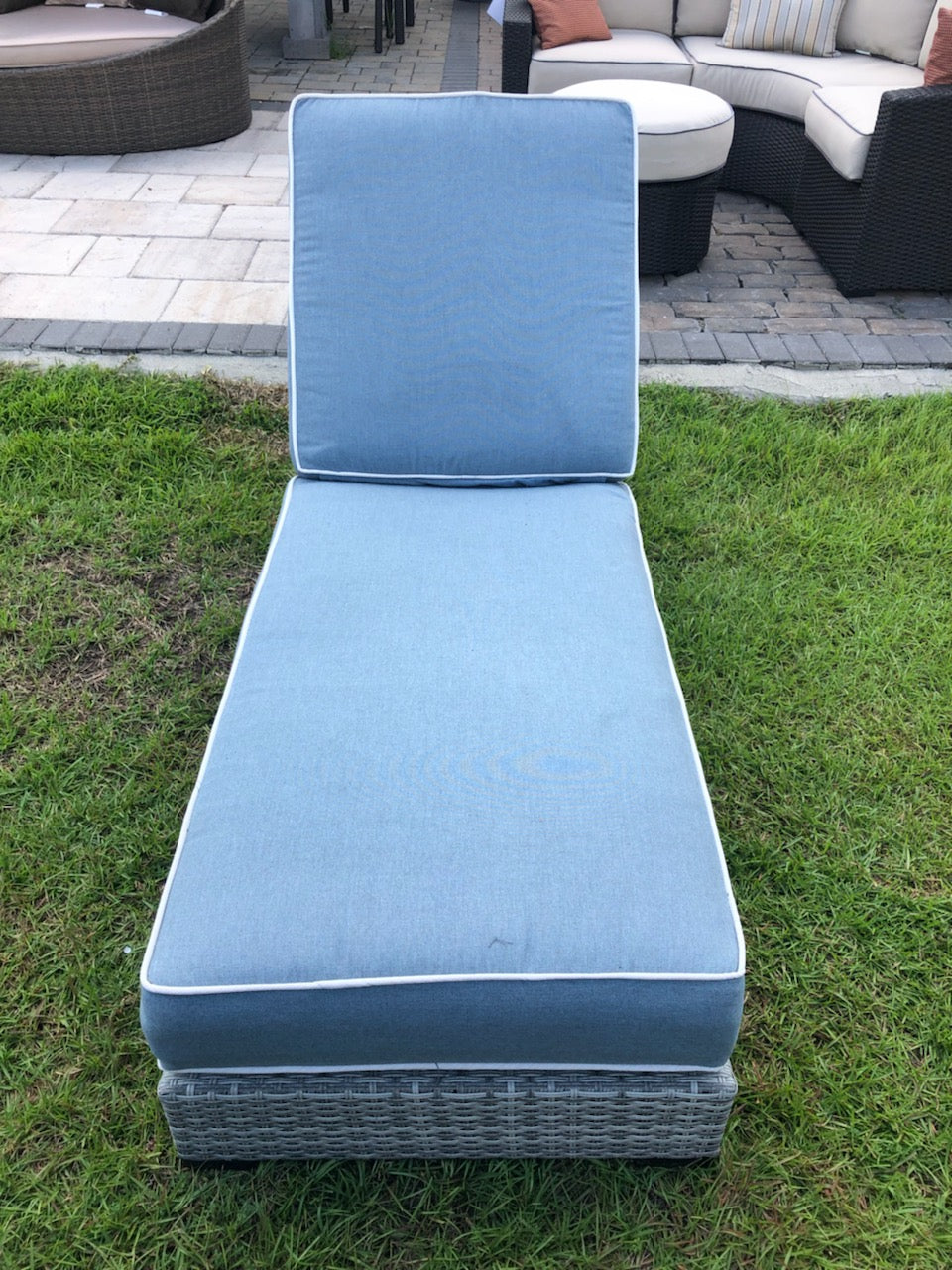 Elba Chaise Stone Blue Buy One Get One Free