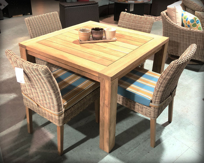 "Valencia Teak 43"" Square Dining Set"