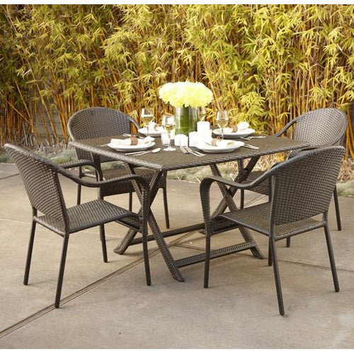 Villa All Weather Wicker Folding Dining Table