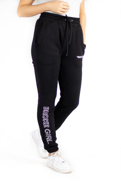 Broke Girl Alpha Joggers - Black