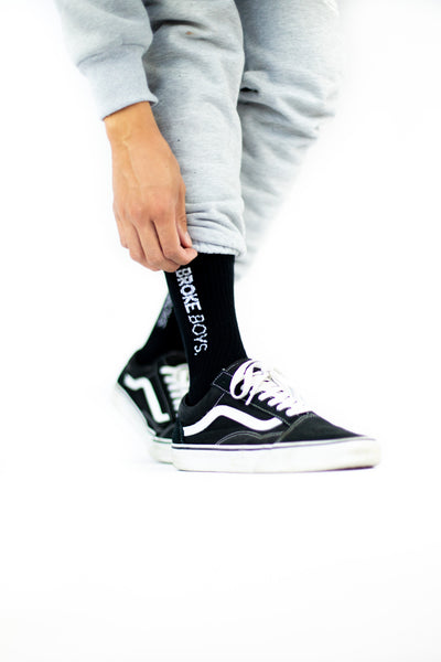 Broke Boys Socks - Black