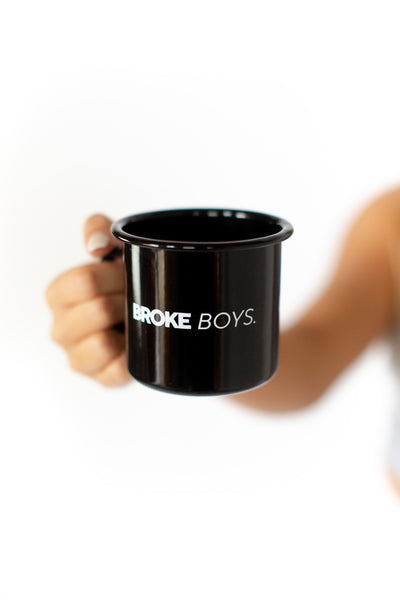 All Black Enamel Mug